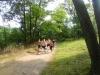 Boys running at Garret