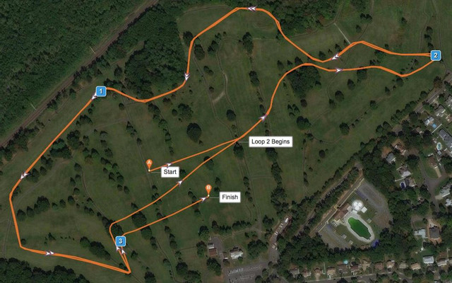 State Sectional 5k Course Map and Driving Directions to get to Oak Ridge Park